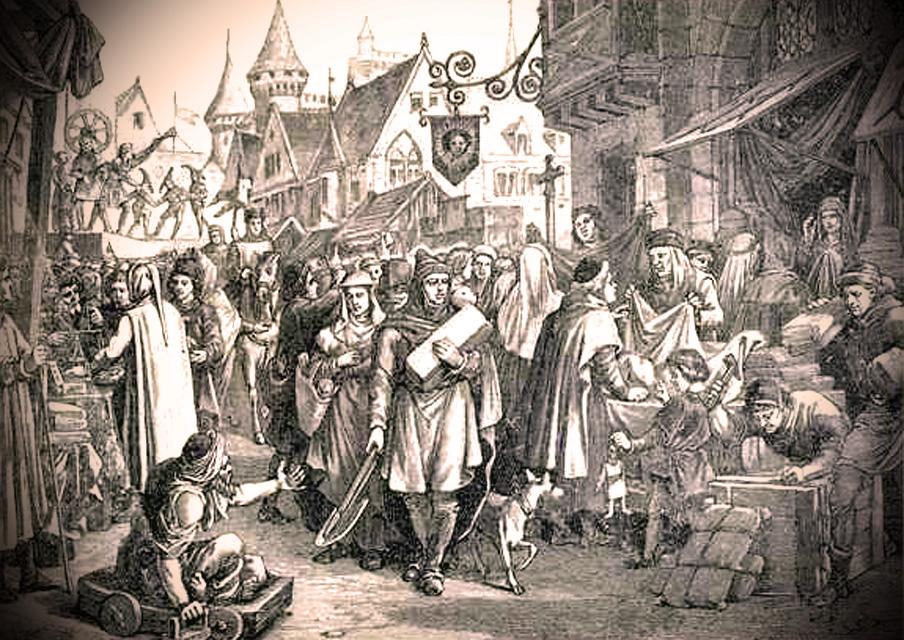 Foire de champagne au 13ème siècle