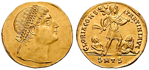 Solidus_multiple-Constantine-thessalonica_RIC_vII_163v
