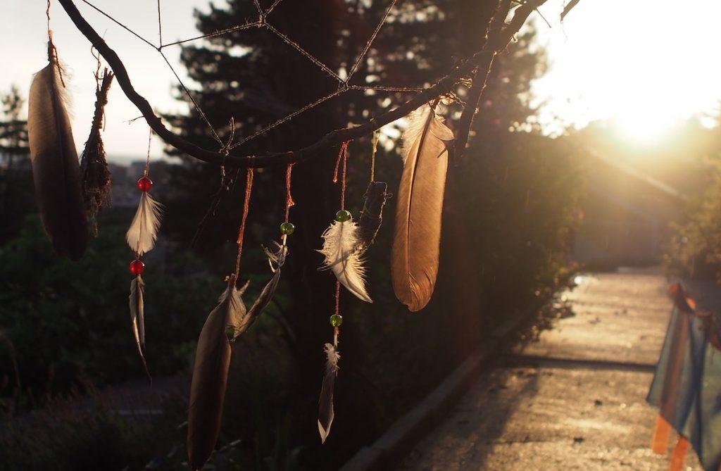 attrapeur de rêve couche de soleil