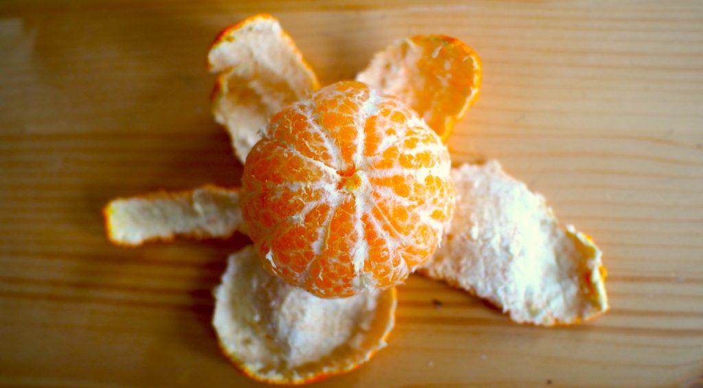 mandarine pelée