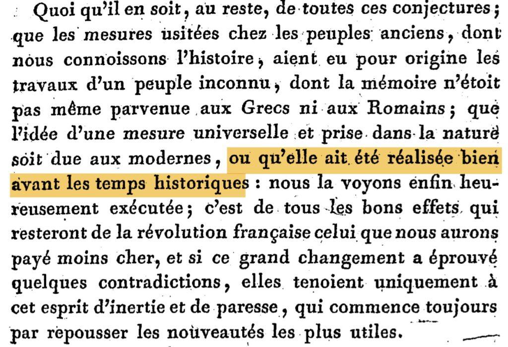 delambre 1806 mesure meridien-p13 metre ancienne civilisation prehistorique