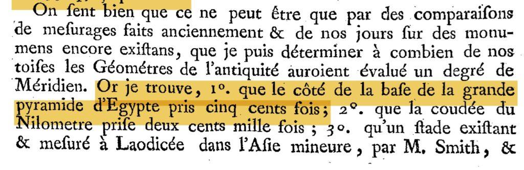 paucton livre métrologie pyramide mesure méridien.